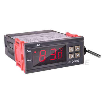 LED Digital Temperature Controller STC-1000 110V-220VAC 10A Two Relay Output Thermostat Heater and Cooler Thermoregulator