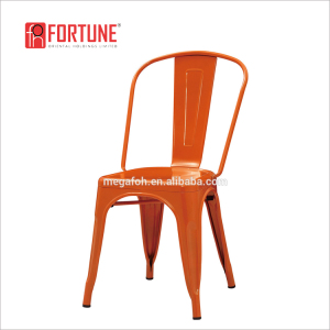 Industrial metal restaurant dining chair(FOH-BCC19)