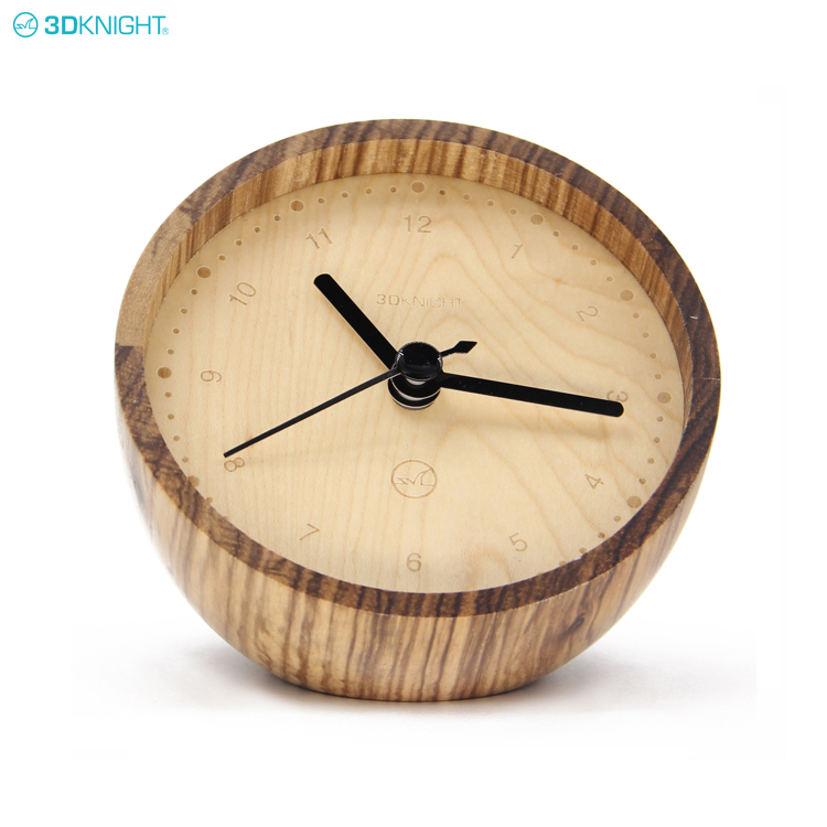 Fashion Gift Promotional Wooden Table Desk Clock For Home Decoration