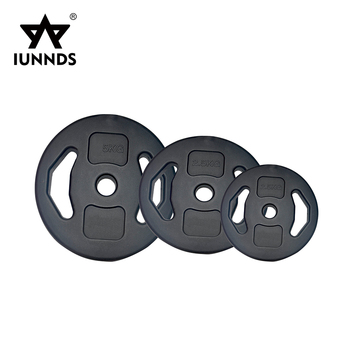 Professional gym weight lifting training equipment plastic cement dumbbell plate set