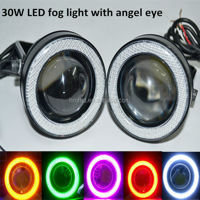 Big Sale 30w Car Led Projector Lens Light,Angel Eye Led Fog Light ...