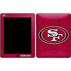 NFL San Francisco 49ers iPad Skin - San Francisco 49ers Distressed Vinyl Decal Skin For Your iPad