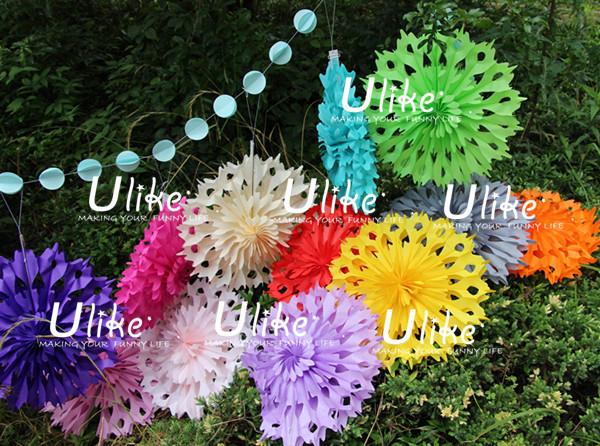 Magic Tissue Paper Flowers Ceiling Fan New Style Tissue Fan Flowers