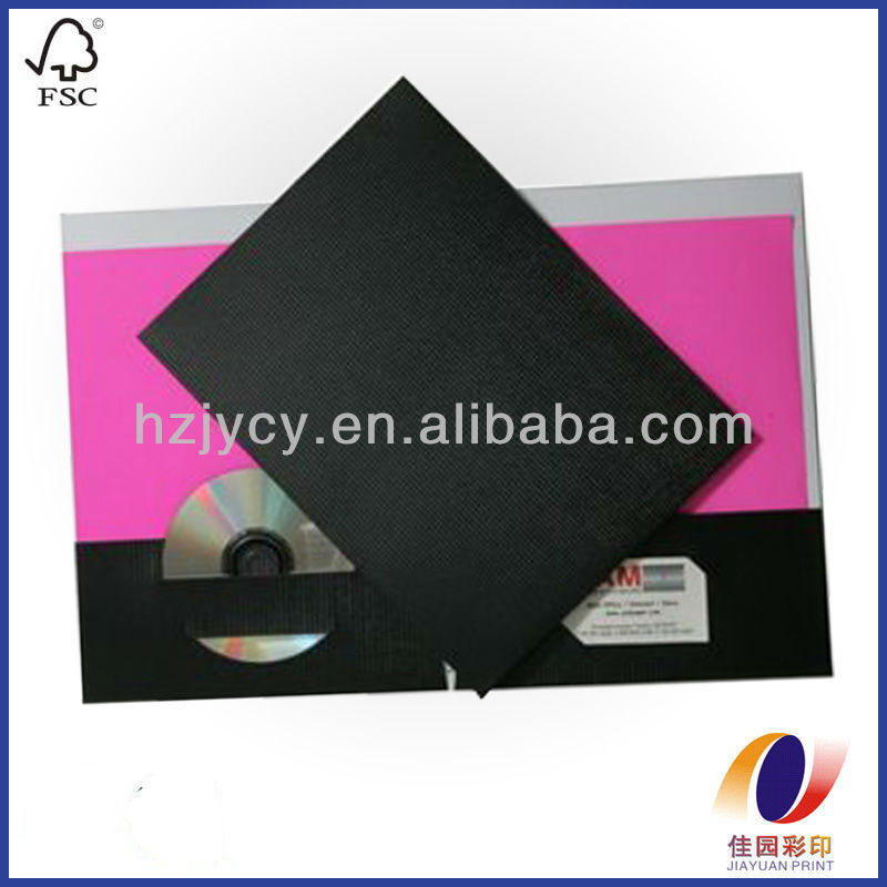 Paper Folder With Cd & Business Card Insert - Buy Paper Folder,File ...