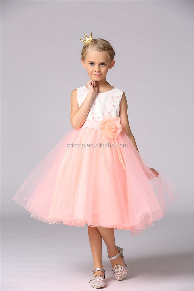 Ropa de los nuevos niños impresos niños vestido de novia vestido de ...