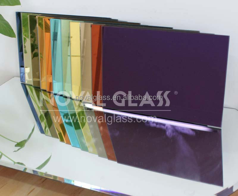 3mm 4mm 5mm 6mm tinted mirror,colored mirror glass With CE ISO Certificate from Noval Glass