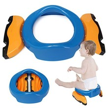 Portable Toilet Assistant Eco-friendly Stool PP Plastic Baby Travel Foldable Potty Chair 2 in 1 Seat