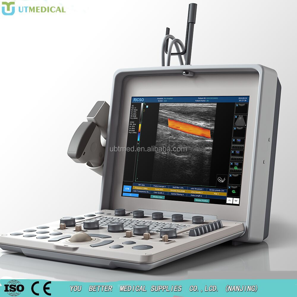 3D convex probe linear probe Color doppler machine laptop ultrasound scanner