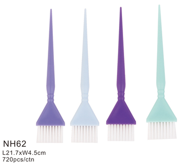Hot selling personalized plastic soft thin feather bristle applicator brush hair dye brush