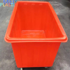 Small poly box truck plastic trolley cart iron industrial on wheels