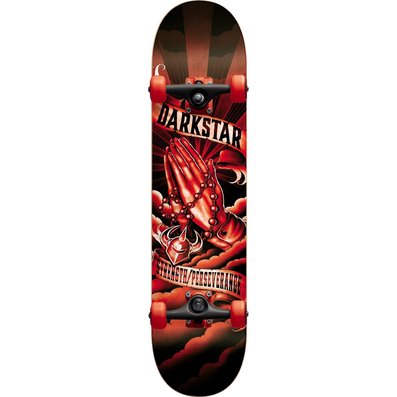 "Darkstar Skateboards Salvation Black / Red Complete Skateboard - 8"" x 31.6"""