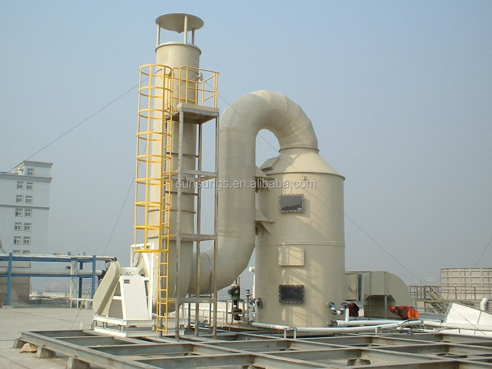 High efficiency spray exhaust gas adsorption tower _Botou