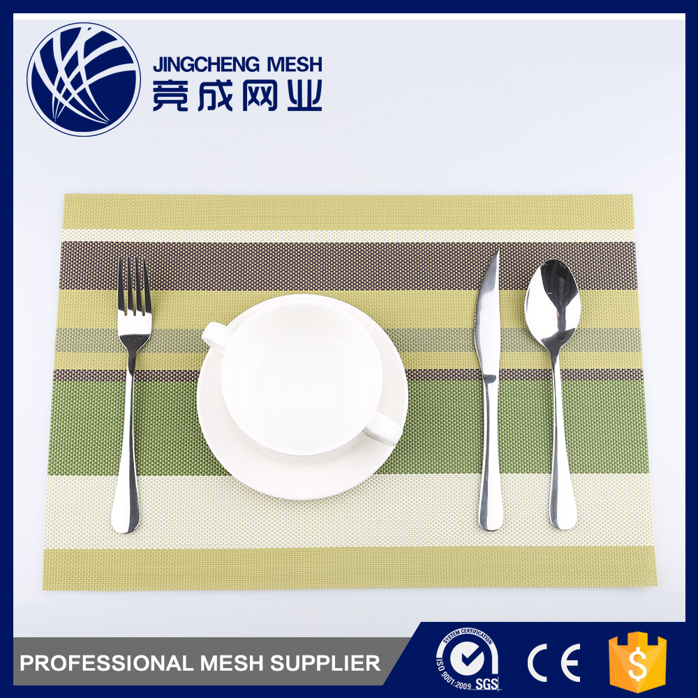 Customized color OEM wholesale dining table plastic vinyl pvc placemat