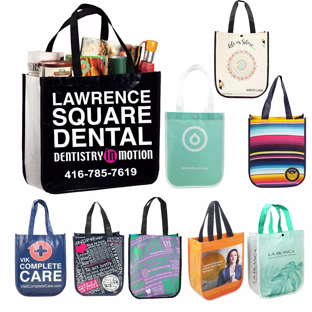 Curved Corners Tote Lululemon Ping Eco Bag Pp Non Woven Custom Bags Product On Alibaba
