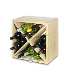 3% discount Stackable Diamond Solid Wood Wine Bins Wine Storages cubes