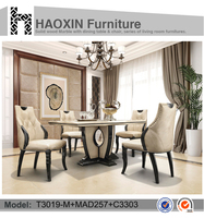 Luxury dining room table and marble table dining furniture