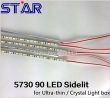 SMD5730 12 V 4mm 90 leds/metro rígida bar led retroiluminado para ultra fino caixa de luz led