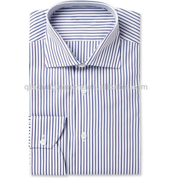 51c10490f05 Mens Blue Purple Striped Dress Shirt