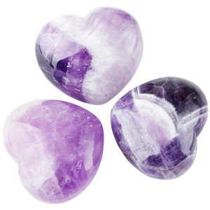 Wholesale Natural Heart shape gemstone Amethyst crystal for sell , Rock Gemstone heart shape for Sale
