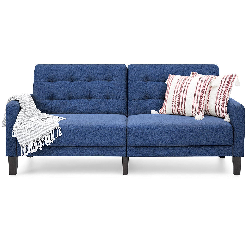 Stupendous Buy Delaney Split Back Futon Sofa Bed Multiple Colors In Inzonedesignstudio Interior Chair Design Inzonedesignstudiocom