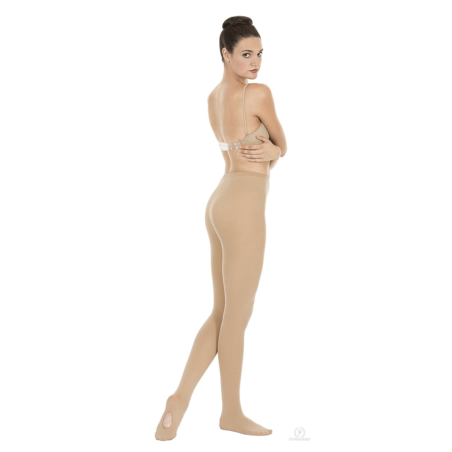New 3 Pairs Women/'s Footless Ice Skating Tights Black Large 1813 Free Shipping