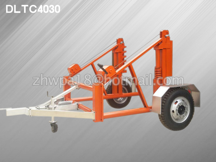 Self-Loading cable-drum-trailer
