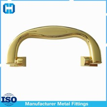 Zinc Alloy Gold Plated Plastic Handle For Wood Boxes