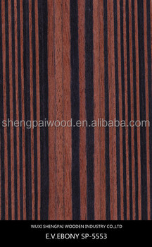 Macassar Ebony Wood Veneer For Door Hotel Furniture Plywood Sheet