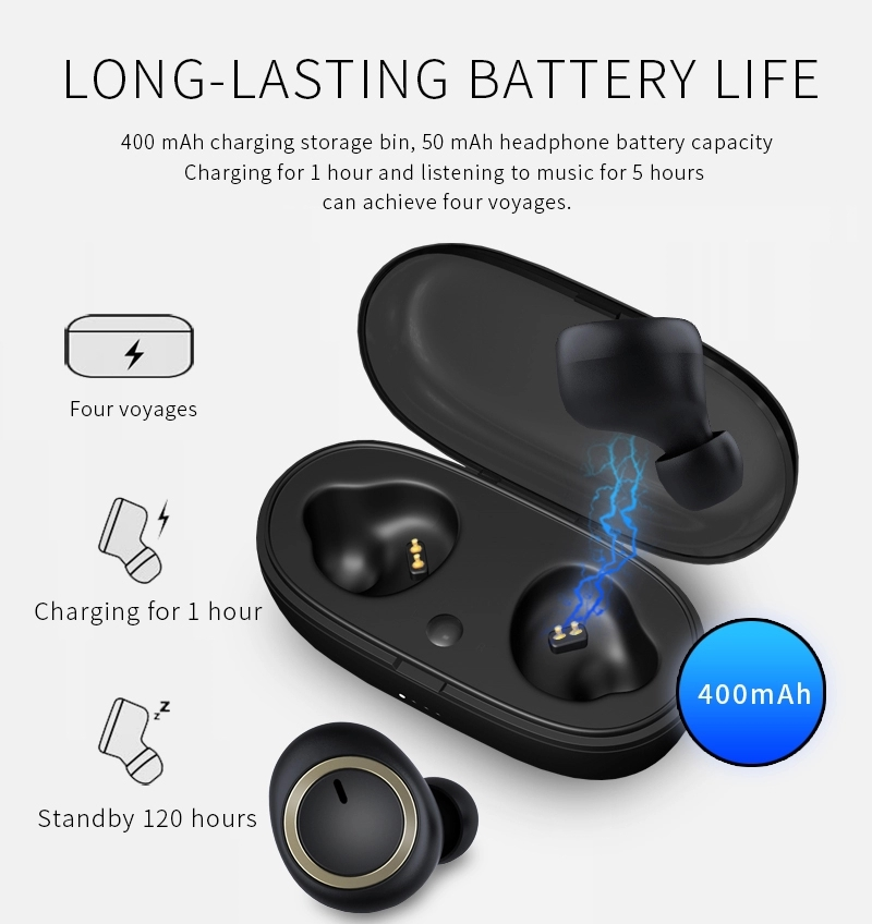 2019 Amazon Best Sell A1 BL 5.0 automatically Stereo Earphone