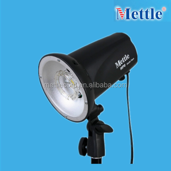 mettle compact studio flashing light with soft box for photography