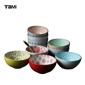 bowl ceramic cheap full hand paint soup bowl directly from factory