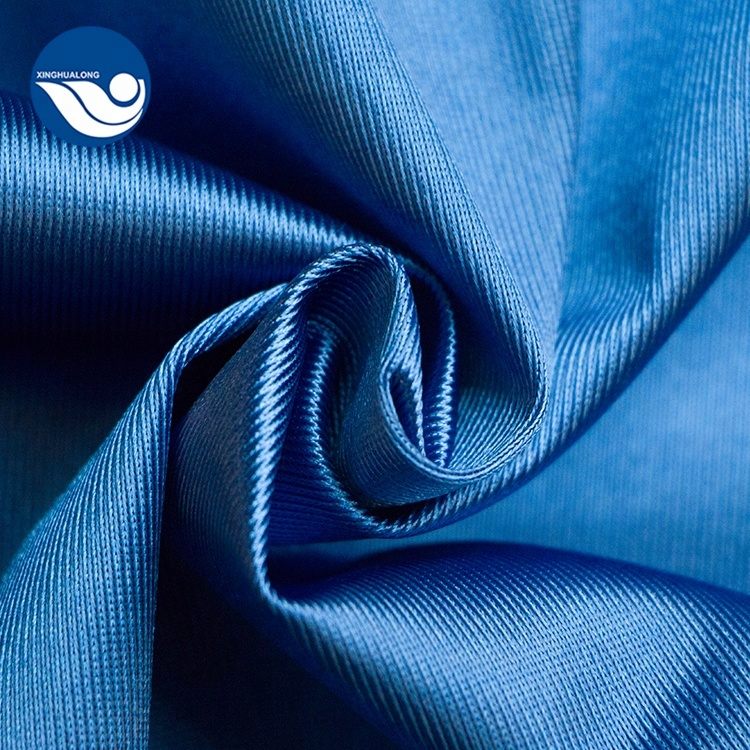 100% Polyester College Graduate Gown warp Dazzle Fabric for Garment