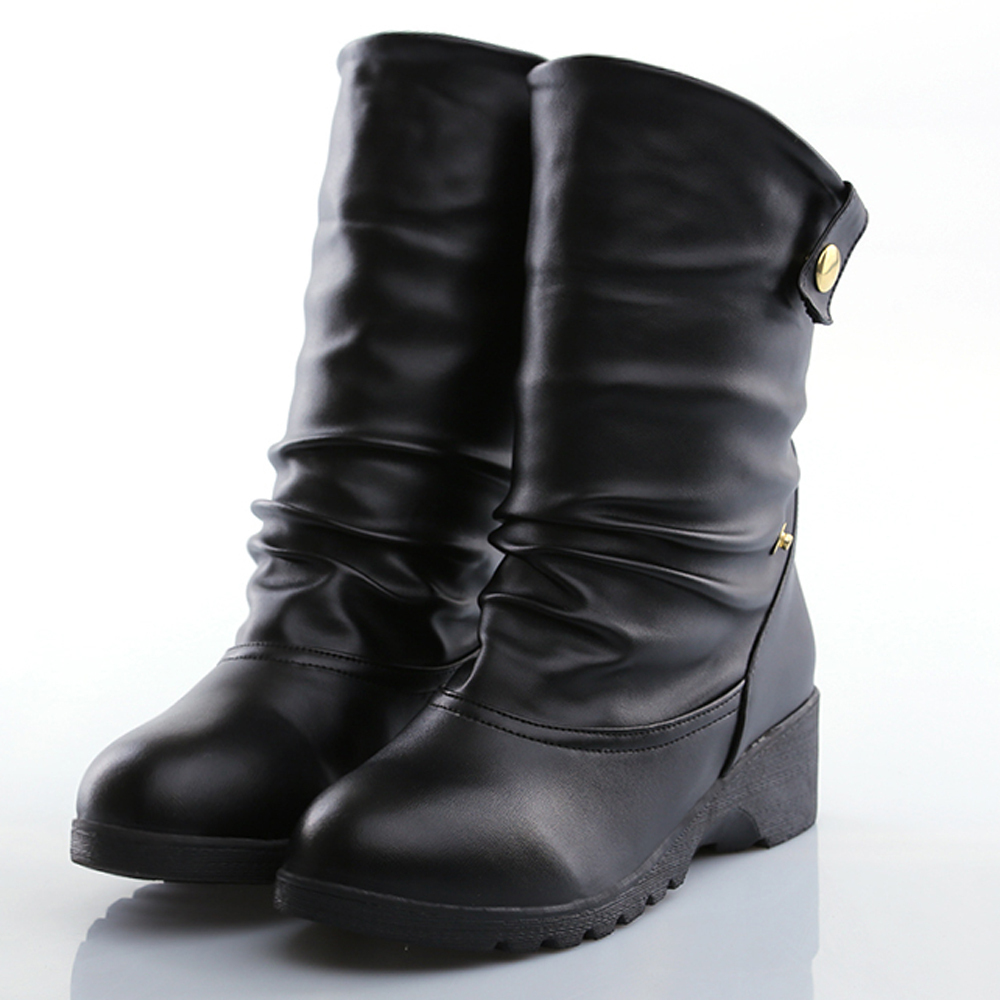 buy wedge boots letter print pleated fashion botas de invierno