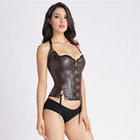 Wholesale Body Shaper Sexy Black PVC Leather black red Gothic Corset