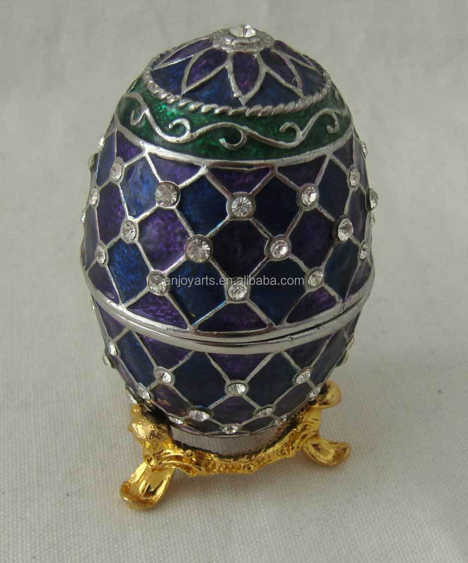 2014 Hot Sale Giant Easter Egg Antique Metal Jewelry