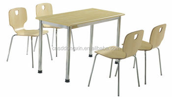 Durable Metal Furniture Dining Room Tables And Chairs With Steel Frame Ca120