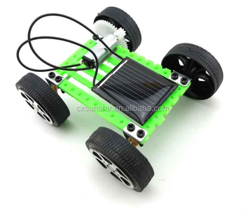 diy solar toy car assemble solar vehicle mini solar energy powdered toys racer child kid