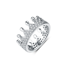 Sevenajewelry SAR7543 Fashion design voor meisje sieraden ringen cz crystal crown <span class=keywords><strong>ring</strong></span> engagements white gold <span class=keywords><strong>plating</strong></span>
