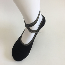 Fashion Silver combed cotton hand link Sexy Elegant women anti skid barre socks