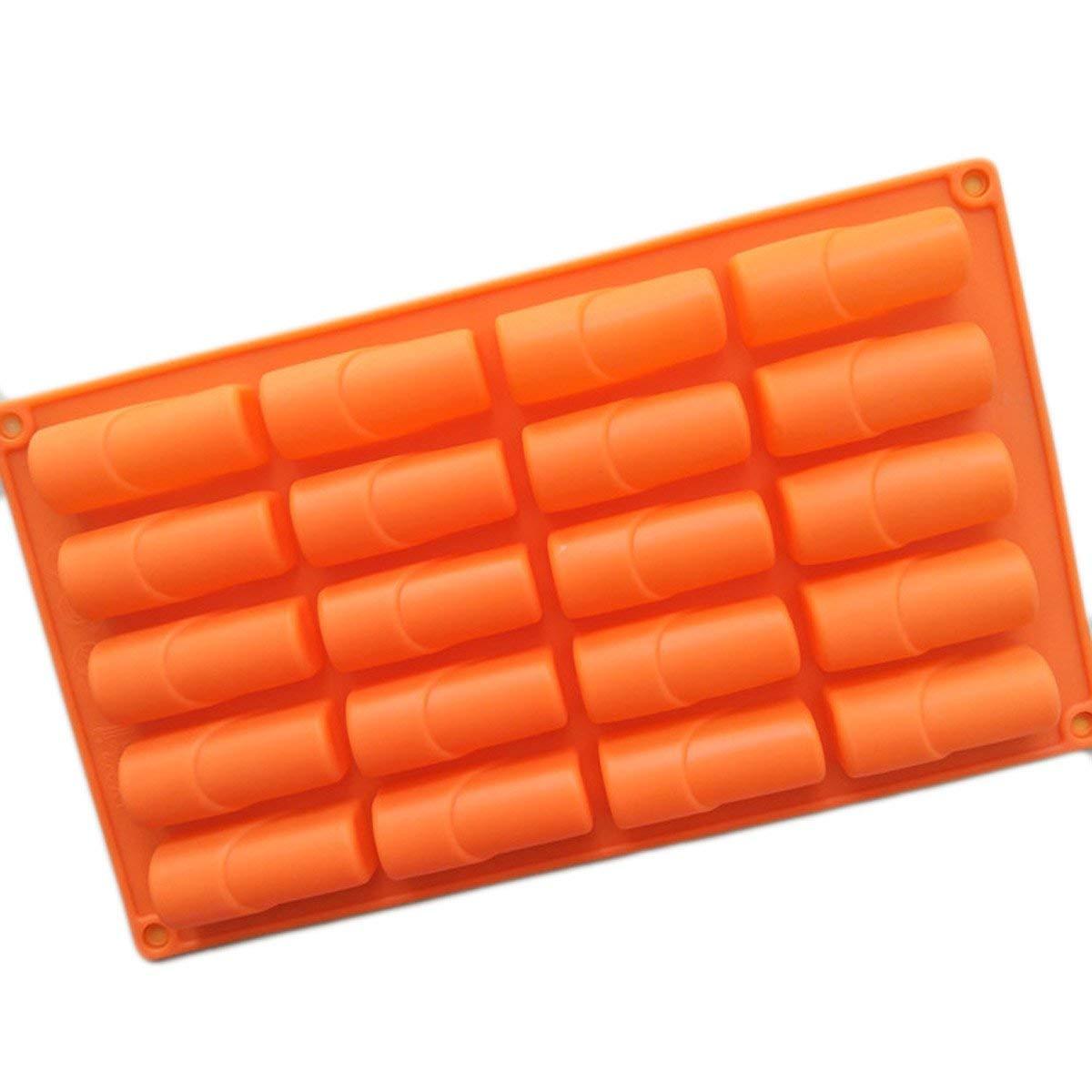 Longzang 20 Cavity Lipstick shape Silicone Mold for Cake Chocolate Baking molds Ice tray