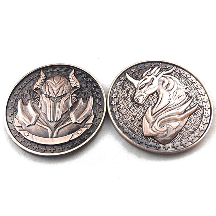 No Minimum China Manufacturer Custom 옛 Metal Brass 도전 Coins