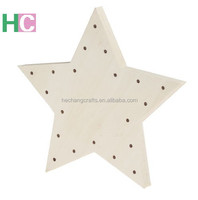 2019 Custom Wooden Star Shape Light Box with LED
