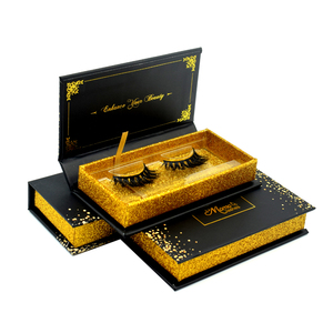 Private Label Custom Eyelash Packaging Box Korean Luxury Handmade Invisible Band Real 3D Mink Eyelashes
