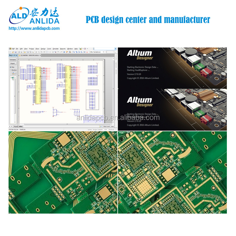 Fr4 Multilayer Electronic Circuit Board Altium Pcb Layout Design ...