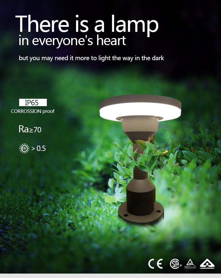 SH-W3002-GRA 12w Height 23cm Die-cast aluminum IP65 Waterproof LED Lawn Light