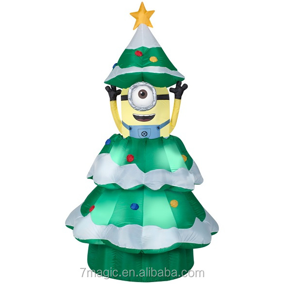 inflatable minion christmas tree airblown
