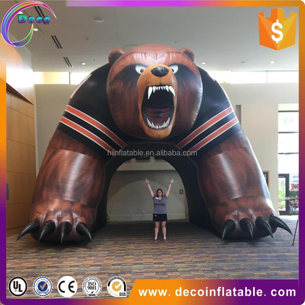 Inflatable bear mascot inflatable sports tunnels for kids