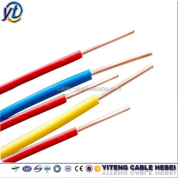 Ce Thw Tw Awg 14 12 10 8 6 Solid Strand Wire Pvc Cover Electrical ...