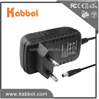 5.5*2.5mm&5.5*2.1mm 110v ac to 12v ac 1.0a power adaptor usb charger 1000mah wall type power supply for LCD LED Monitor