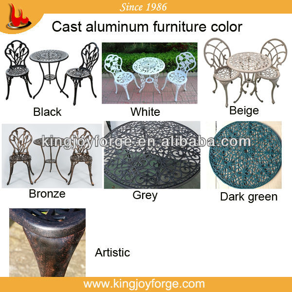 Outdoor Patio Furniture Cast Aluminum Deep Seating Sofa